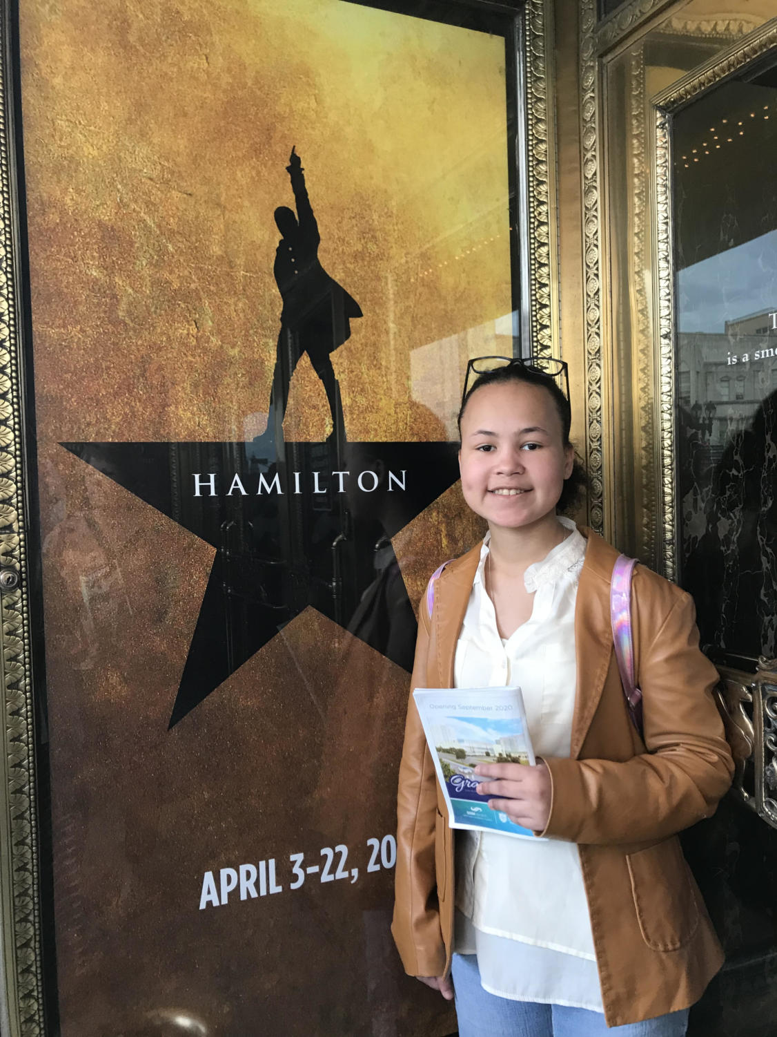 Megan Thompson ('20) gets a chance to see Hamilton at the Fox.