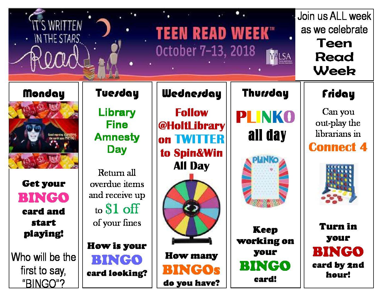 Celebrate Teen Read Week
