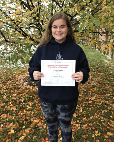 Holt High Senior Receives Excellent At National Writing Competition