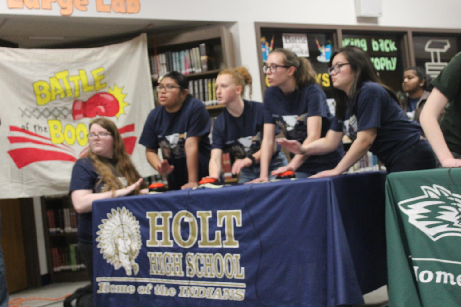 Holts Battle of the Books team was geared up and ready to answer what ever was thrown at them