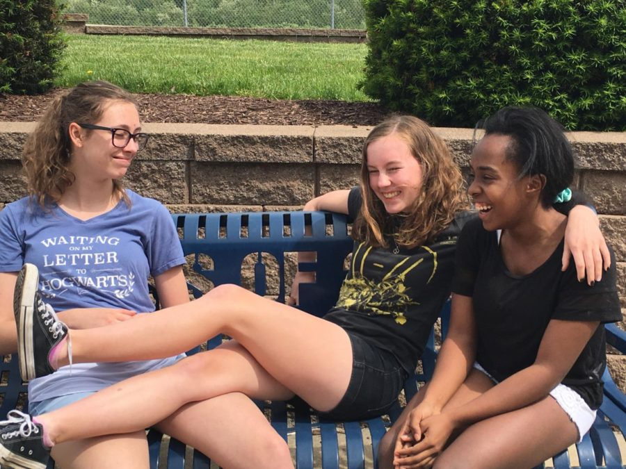 These freshman, Emma Robertson, Kinslee Keatts and Natalie Sutherlin are excited for the upcoming summer vacation.