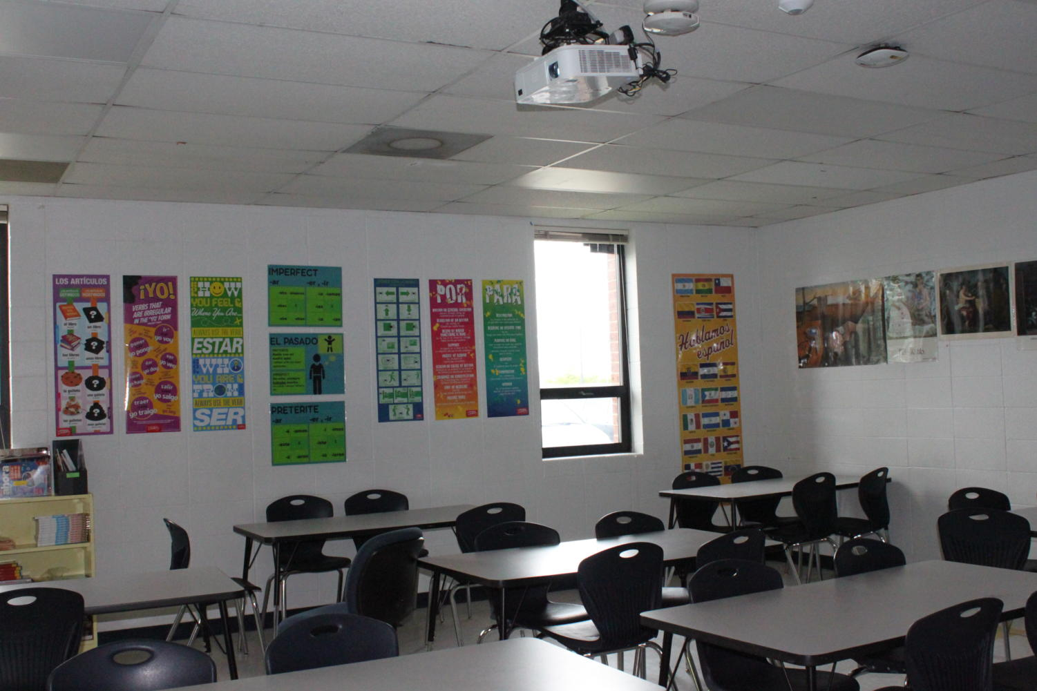 Many classrooms were left without power during 1st period on the first day back from a long summer.