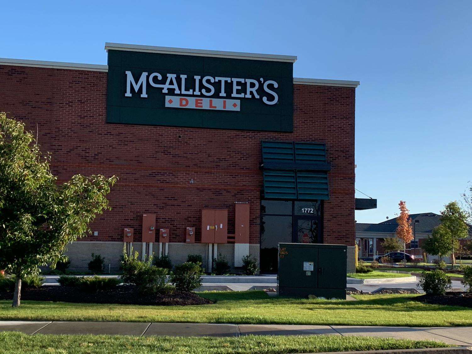 One of the new Restaurants, McAlister's, that are coming to Wentzville.