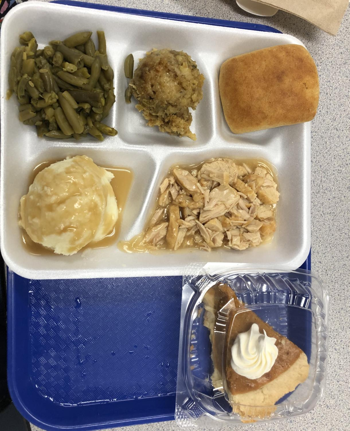 The annual Thanksgiving style meal at Holt.