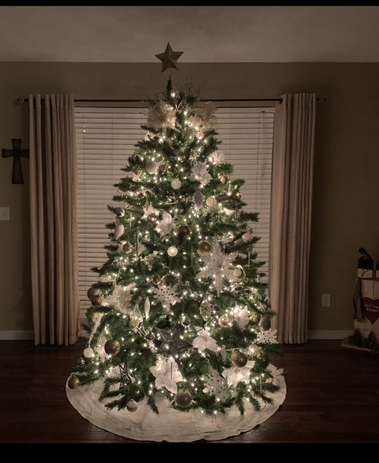 A popular holiday tradition is decorating the tree with friends or family.