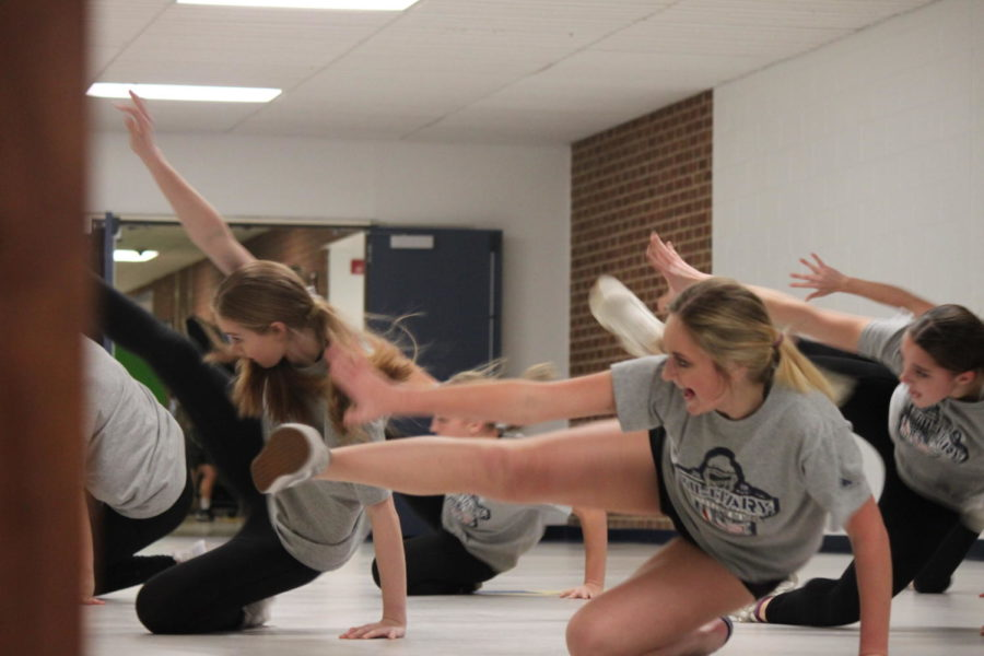The+dance+team+is+seen+practicing+for+their+next+dance+routine.+They+have+been+working+really+hard+and+want+to+achieve+this+season.