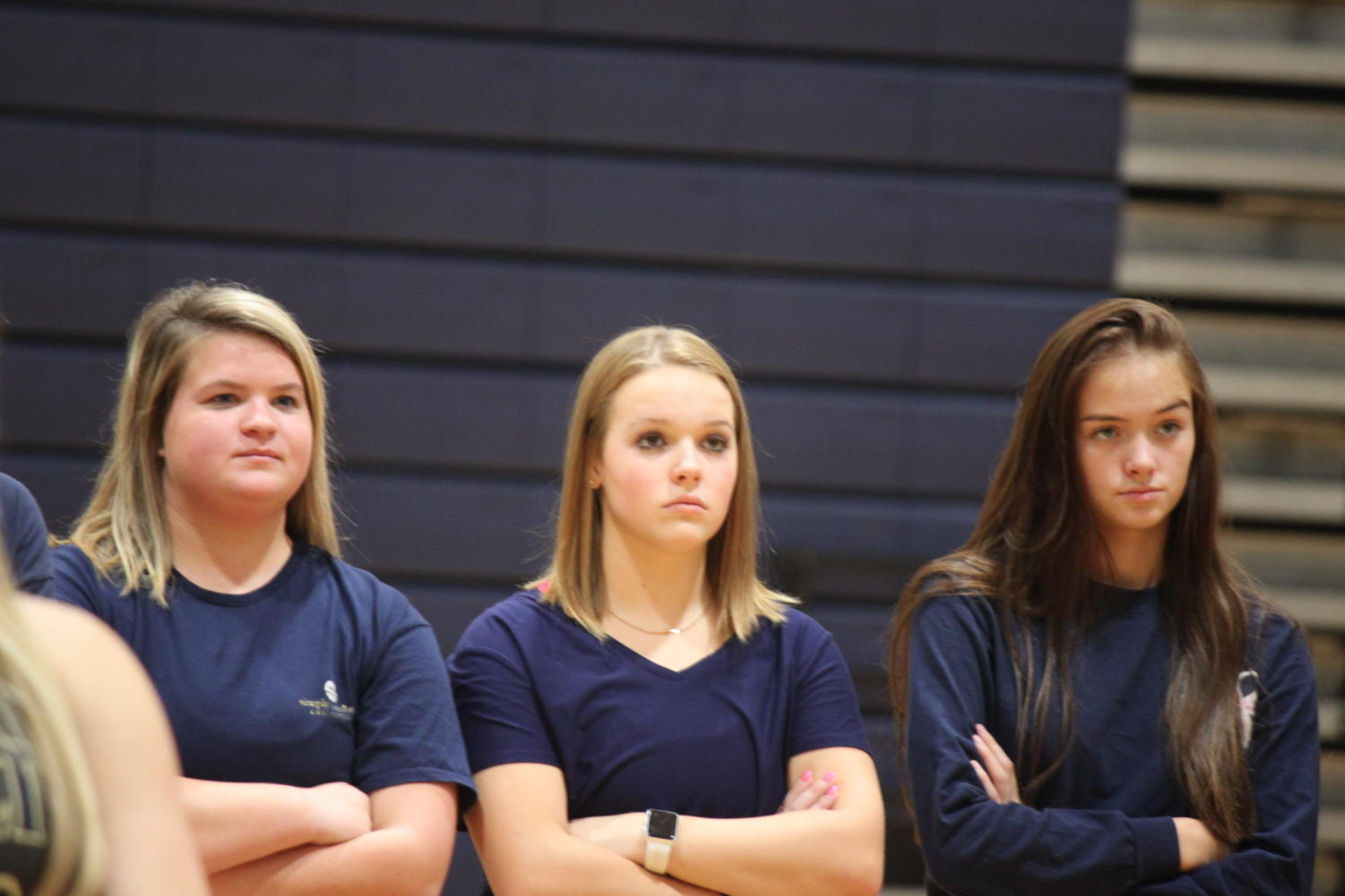Macy Nesslage ('21), Katelyn Stogsdill ('22) and Alexandra Silvey ('22) are ready for the swim season with high expectations.