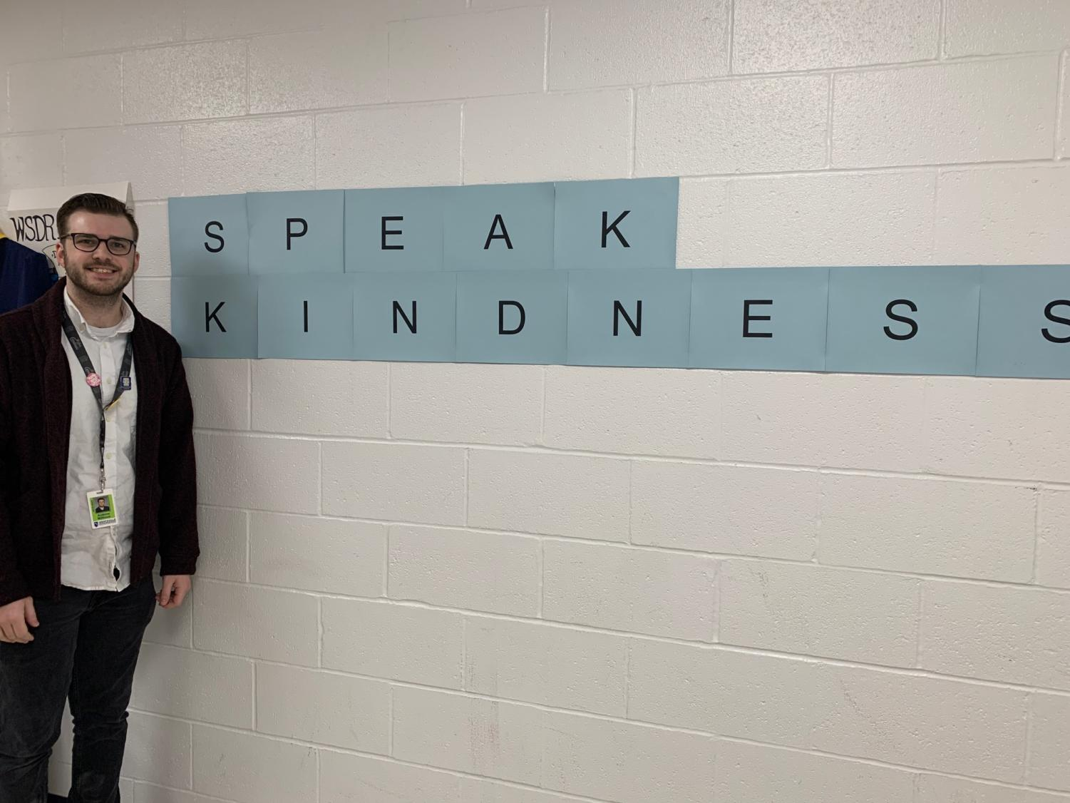 Kindness can always be found in and around Mr. Andrew Milhous' theater classroom.