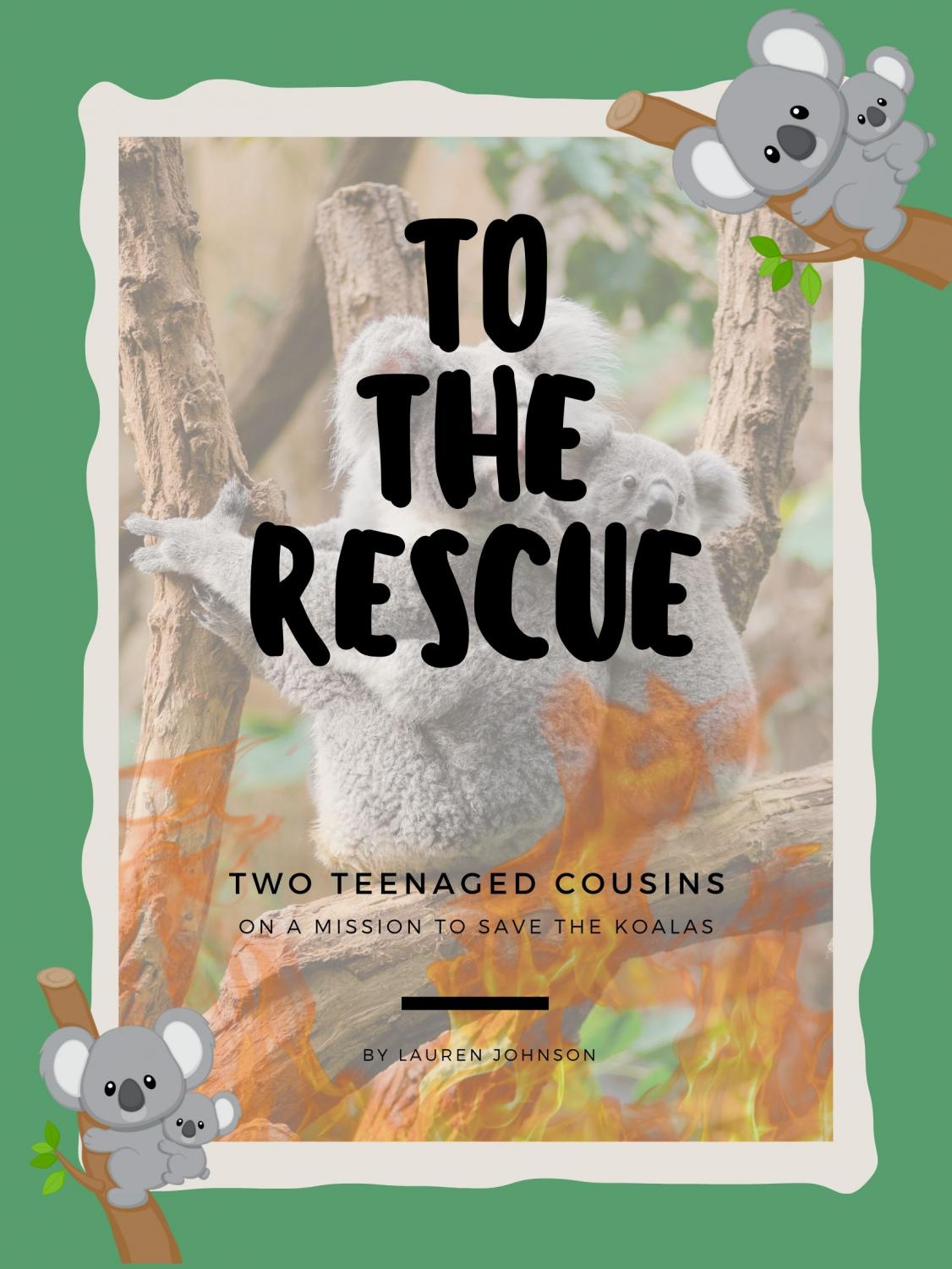 Trying to help the koalas in Australia, two teenage cousins rescue several.