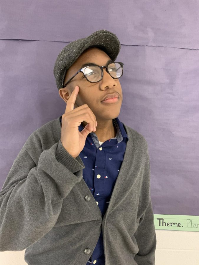 Jaden Walls ('22) ponders what it would be like to be much older.
