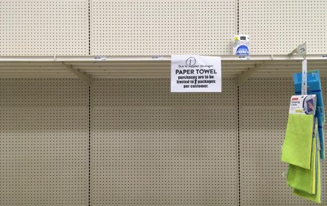 Most stores have put limits on toilet paper, usually one per person.