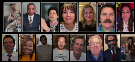 The whole cast of the Parks and Rec crew came back for the Parks and Rec special.