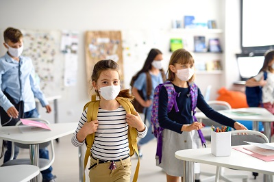 Students in schools all around the state are returning back to school with student mask requirements.