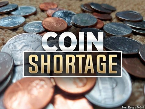 Many stores are accepting exact change or debit/credit cards only due to a National coin shortage.