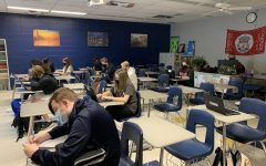 Students in Mr. Jim Pruitt's class are socially distancing for now, but on Oct. 19, all the seats will be taken.