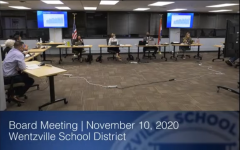 The Wentzville Board of Education gather to discuss the effects of the virus on the school.