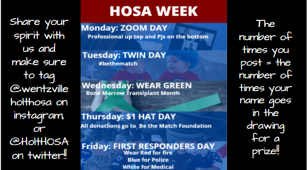 HOSA%27s+spirit+week+is+supporting+Be+the+Match+Foundation.