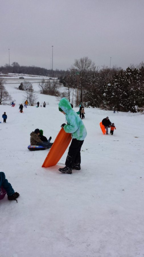 Year 2013, Lake St Louis was hit with heavy snowfall therefore making for great sledding days.