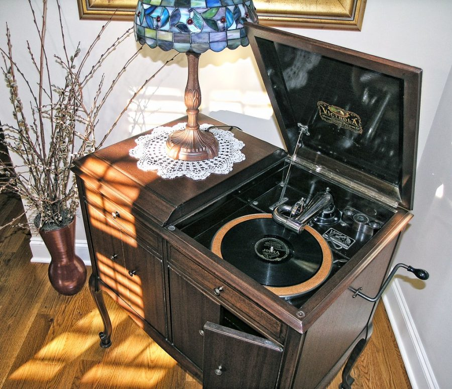 Record players often came in larger stereos or the more portable turntables