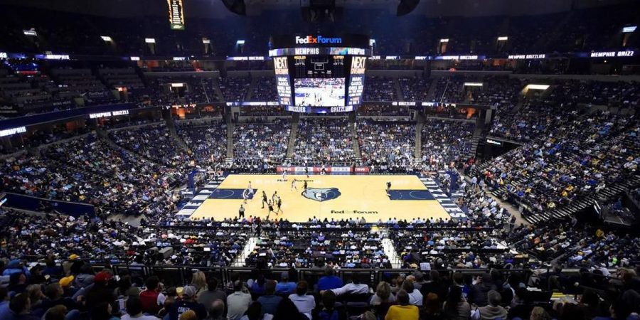 The FedEx Forum in Memphis Tennessee who's basketball team, the Grizzlies, were struck with a five game absence