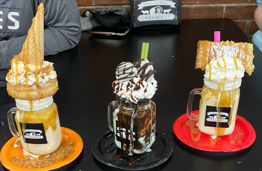 The Main Street Creamery has many specialty shakes, such as the Cowboy, the Grasshopper and the Gooey