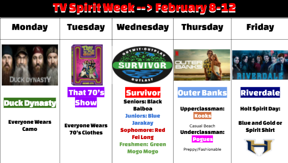 TV Spirit Week 2021