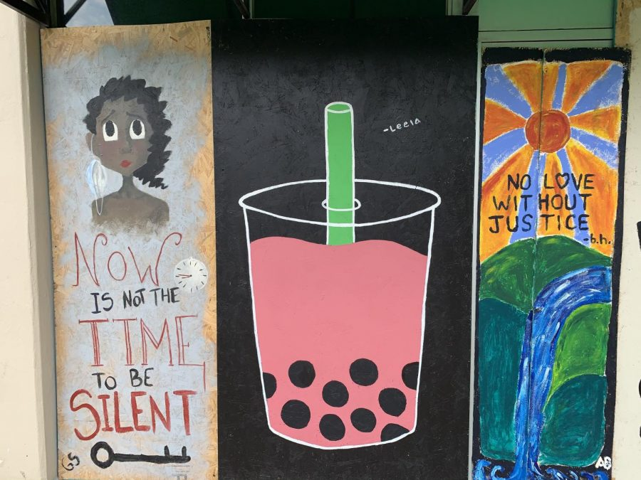 Murals are created to celebrate Black History Month, and to look back on historical movements.