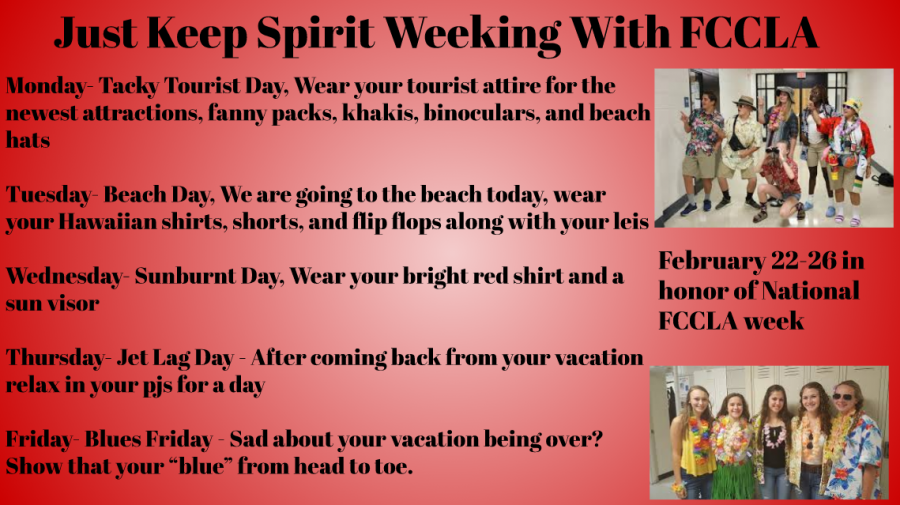 FCCLA Spirit Week: Just Keep Spirit Weeking!