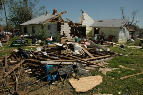The aftermath of an E4 tornado in Newtonia, Missouri. (May 12, 2008)