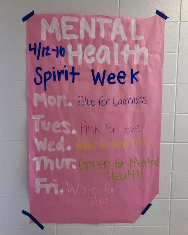 Mental health spirit week poster